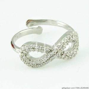 Gümüş Sonsuzluk Yüzük Modelleri - Thumbnail